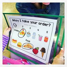 """Order Up!"" Dramatic Play Idea (from First Grade Blue Skies)"