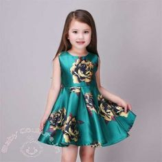 Shop Little Girls Sleeveless Yellow Rose Print Green Princess Dress - up to off, discover more dicountGirls' Casual Dresses online now. African Dresses For Kids, Little Girl Dresses, Girls Dresses, Flower Girl Dresses, Kids Costumes Girls, Kids Outfits, Princes Dress, Baby Dress, Dress Girl