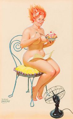 Wall Art Print- Art Reproduction Vintage Sexy Pin-up Girl Vintage Sexy Plus-size Pin-up Girl Duane Bryers Hilda Print 8 x Arte Pin Up, Pin Up Art, Sexy Pin Up Girls, Feather Angel Wings, Pin Up Girl Vintage, 50s Vintage, Drawn Art, Dita Von Teese, Big And Beautiful
