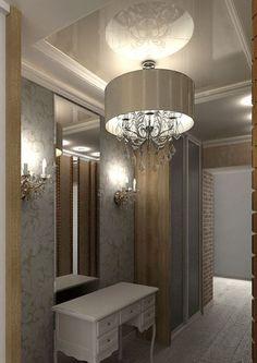 Newhome foyer on pinterest modern foyer foyers and for Modern hallway light fixtures