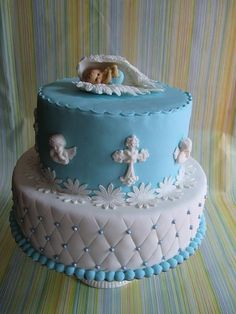 Cake for baptism with angels