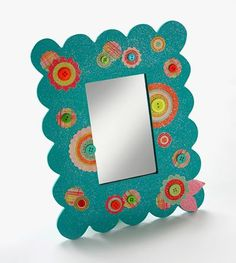 Dollar store mirror gets a bright revamp with Sparkle Mod Podge!