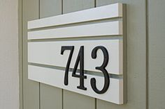 House numbers makeover.  I really like this!  I can see it on the front of our house, easily.  :)