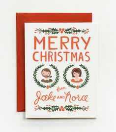Custom Illustrated Vintage Holiday Cards Rifle Paper Co. Custom Christmas Cards, Christmas Love, Xmas Cards, Holiday Cards, Christmas Holidays, Happy Holidays, Merry Christmas, Greeting Cards, Vintage Holiday