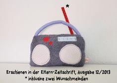 Spieluhr Radio mit 2 Wunschmelodien // children's music box by tildemor via dawanda.com