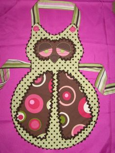 Cute Sleepy Owl Apron - this shape could make a cool cat too