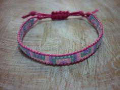 Kinder kralenarmbandje Miyuki armband kinderarmband roze groen paars ibiza hand geweven handgemaakt Loom beaded bracelet geweven beads door MadeByMandyNL op Etsy
