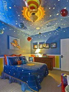 See beautiful pictures of kids bedroom themes. select the desired option of kids bedroom themes and do a redesign of its premises. Bedroom Themes, Girls Bedroom, Bedroom Decor, Kid Bedrooms, Bedroom Storage, Space Theme Bedroom, Comfy Bedroom, Childrens Bedroom, Bedroom Ceiling