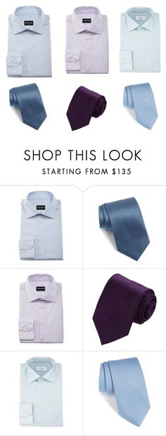 """""""White shirts with micro patterns"""" by stylev ❤ liked on Polyvore featuring Giorgio Armani, BOSS Hugo Boss, Drakes London, ETON, men's fashion and menswear"""