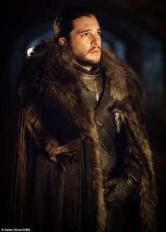 New role, new look: Jon has been named the King in the North...
