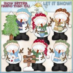 Snowguys 1 - NE Cheryl Seslar Clip Art