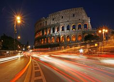 Colosseum in Rome in the late Blue Hour. 7 World Wonders, Cinque Terre, Rome Italy, Vacation Trips, Italy Travel, Tuscany, Places Ive Been, Mexico, Louvre