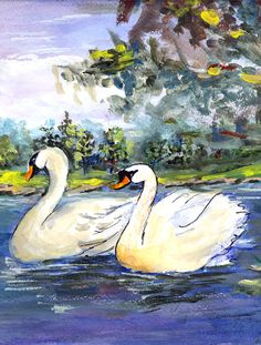 Bird - Swan Flag Garden Size
