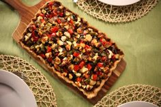 Mediterranean Vegetable Pie - uses a great technique for vegan pastry! Topped with roast veggies & goats cheese to finish. Recipe from Lyndey Milan's Baking Secrets. Baking Secrets, Baking Tips, All Vegetables, Roasted Vegetables, Veggies, Pie Recipes, Cooking Recipes, Yummy Recipes, Savoury Recipes