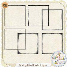 Spring Bliss Page Borders EXCLUSIVE by Papierstudio Silke #CUdigitals cudigitals.comcu commercialdigitalscrapscrapbookgraphics #digiscrap