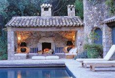 Pool house | swimming pool | backyard