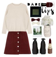 """Dark Lips"" by monicanne ❤ liked on Polyvore featuring beauty, Jeffrey Campbell, Miss Selfridge, Forever 21, Fashion Fair, Polaroid, Bobbi Brown Cosmetics and Deborah Lippmann"