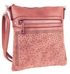 Elegantní malá dámská crossbody kabelka 5228 růžová - Kliknutím zobrazíte  detail obrázku. efe5b240a33