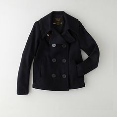 CROPPED PEA COAT   selected by jamesdrygoods.com for the made in america: contemporary project   #madeinusa  