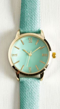 My Time has Come Watch in Turquoise