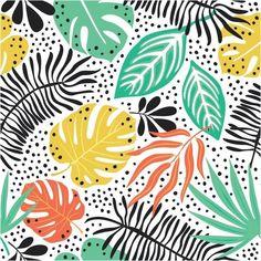 Papel de Parede Adesivo Plantas Tropicais