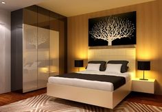 Just like the idea of a big tree of life above the bed.