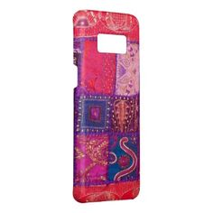 #Patchwork India Faux Look A Like  Digital Art Case-Mate Samsung Galaxy S8 Case - #flower gifts floral flowers diy