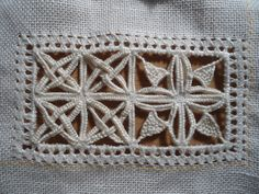 Reticello (via Banu Abdusselamoglu, Embroidery Hardanger, Antep İşi, Reticello, Schwalm, White Work, Cut Work...)