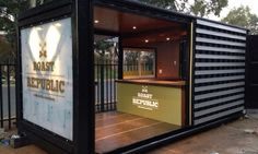 Architecture for a Change converted a shipping container into a Roast Republic coffee shop in South Africa.