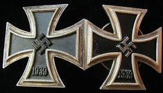 """The original caption said, """"Iron Cross 1st Class'...Germany's highest military medal"""".  Actually the Knight's Cross was the highest award.. and even it had different grades that could be added to it."""