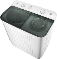 ZYK 22 lbs Portable Washing Machine with Twin Tub Electric Compact Washing Machine Mini Laundry w/Washer&Spinner, Gravity Drain Pump and Drain Hose Oroville Wa, Compact Washing Machine, Spin Dryers, Stainless Steel Drum, Drain Pump, Clothes Dryer, Confusion, Knob, Washer