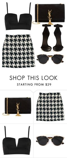 """Untitled #962"" by chanelover01 ❤ liked on Polyvore featuring Yves Saint Laurent, H&M, Topshop, Christian Dior and Isabel Marant"