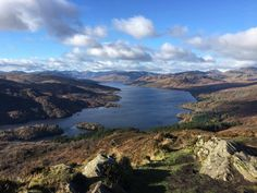 Loch Katrine from Ben A'an one of Scotland's most iconic view.