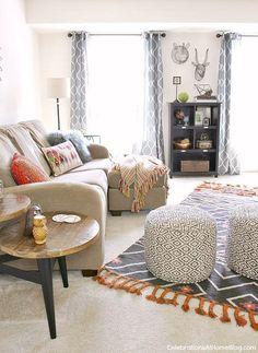 Bonus Room Decor via Celebrations at Home >> #WorldMarket Living Room Decor, Home Decor, Tips