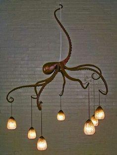 Glow ~ Octopus light by daniel hooper