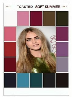 #Farbberatung #Stilberatung #Farbenreich mit www.farben-reich.com Soft Summer Color Palette, Summer Colors, Deep Winter, Soft Autumn, Seasonal Color Analysis, Color Me Beautiful, Summer Skin, Cool Tones, Fashion Colours