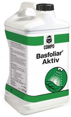 Basfoliar® Aktiv Υγρό ΝΡΚ λίπασμα που περιέχει εκχυλίσματα φυκιών Ecklonia maxima και ιχνοστοιχεία σε χηλική EDTA μορφή. Πλούσιο σε φυτορμόνες, αμινοξέα, και βιταμίνες. Κατάλληλο για διαφυλλική εφαρμογή αλλά και υδρολίπανση. Σύνθεση: 3,0% συνολικό άζωτο (ουρικής μορφής), 27% Ρ2Ο5, 18% K2O, 0,01% Β, 0,02% Cu*, 0,02% Fe*, 0,01% Mn*, 0,001% Mo, 0,01% Zn*, 3% οργανική ουσία *100% EDTA Χηλική μορφή