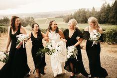 You'd Never Guess How Much of This Simply Elegant Vista Hills Vineyard Wedding was DIY Winter Bridesmaid Dresses, Lavender Bridesmaid, Black Bridesmaids, Mismatched Bridesmaid Dresses, Bridesmaid Inspiration, Wedding Dress, The Dress, Wedding Photography, Photography Ideas