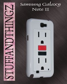 Samsung Galaxy Note 2 Funny Electrical Outlet Case Hard Cover Case Galaxy Note 2. $14.99, via Etsy.