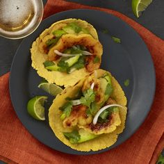 Try this mouth-watering, super healthy vegetarian taco recipe featuring seasonal avocado and squash. This dish is jam-packed with 10g of fiber per serving! #appetizer | health.com