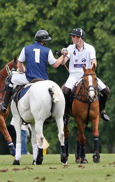 Prince Harry plays for team Royal Salute and Prince William, Duke of Cambridge plays for team Piaget at the Gigaset Charity Polo Match at Beaufort Polo Club on June 2015 in Tetbury, England. Get premium, high resolution news photos at Getty Images Prince William News, Prince William And Harry, Prince Henry, Royal Prince, Prince Of Wales, Prince Charles, Royal Uk, Zara Phillips, Polo Match