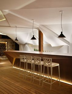 Studio Otto Felix Design Nosotros Bar Featuring A Faceted Sculptural Wall