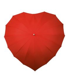 Rainy nights can be the most romantic, especially when the two of you cozy up under this heart-shaped umbrella.
