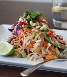 Raw Zucchini Noodle Pad Thai (It's Vegan Friendly!)