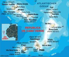 cap verdian | Cape Verde Map - Cape Verde • mappery