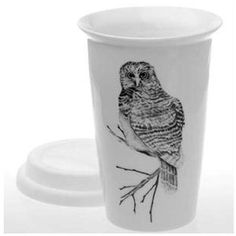 Reusable Coffee Cup - Owl | Carefully selected natural, organic, non-toxic or recycled products from State of Green