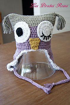 tuto au crochet: le bonnet hibou.