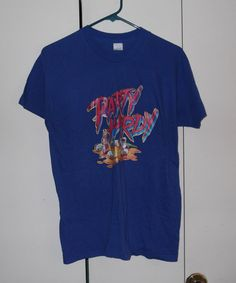 Vintage 1980s party hardy 50/50 large blue by thriftyoutfitters, $12.00