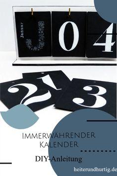 So machst du einen immerwährenden Kalender selbst, der dich Jahr für Jahr begleiten wird. Company Logo, Logos, Paper, Personal Organizer, Serenity, Calendar, Handarbeit, Tutorials, Logo