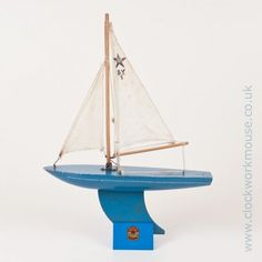 Image result for blue toy sailing boat